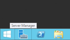 Click on the Server Manager icon on the taskbar to launch Server Manager