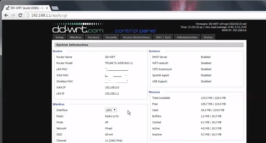 Installing DD-WRT on TP-Link TL-WDR3600 N600